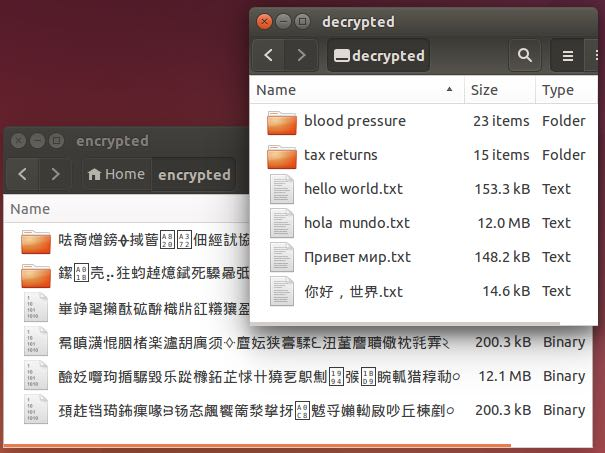 ScramFS Mount allows you to mount your encrypted directories and files and use them instantaneously.